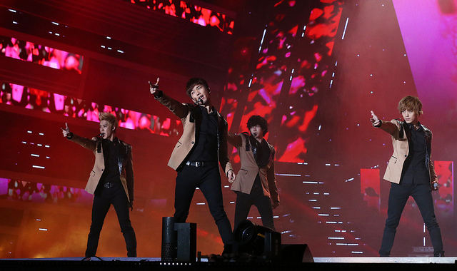 MBLAQ at the 2012 K-POP World Festival.