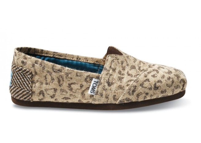 Women's Vegan Classics shoes in Snow Leopard by TOMS. $54.