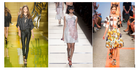 (From left to right: Versace, Fendi, MSGM; images courtesy of harpersbazaar.com)