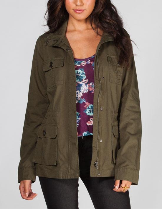 Leslie women's anorak jacket in Olive by Jack by BB Dakota. $60.