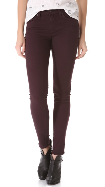 Skinny jeans in Wine by Rag & Bone/JEAN. $165.