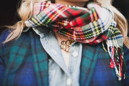 plaidscarf