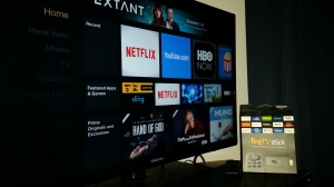 Amazon's Fire TV Stick features a vibrant, sleek and easy-to-navigate menu. Amazon offers a free Fire TV app on iOS and Android that allows users to voice search on the Fire TV Stick. Photo by: Bryan Faux