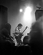 Jimi Hendrix performs in Berlin when Professor John Freeman was in high school. Freeman's first published photograph, his shot of Hendrix was printed in the Berlin Observer—a weekly paper that served the Air Force, Army and state department personnel in Berlin—along with a review Freeman wrote about the show. (Credited to John Freeman, with permission)
