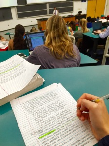 Studies show that note taking the traditional way is more conducive to learning, although it may be more tedious. Photo by Christina Hunt