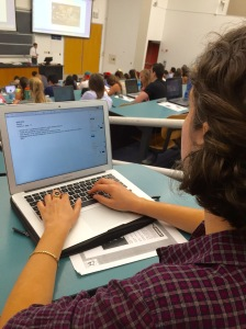 Taking notes on a computer is faster, more convenient and allows you to multi-task during class. Photo by Christina Hunt