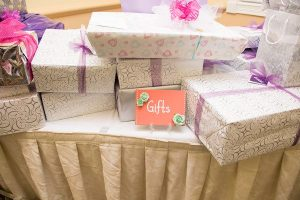 Gifts from Christina's bridal shower at Heritage Springs Country Club on September 20, 2015. Photo by Christina Hunt