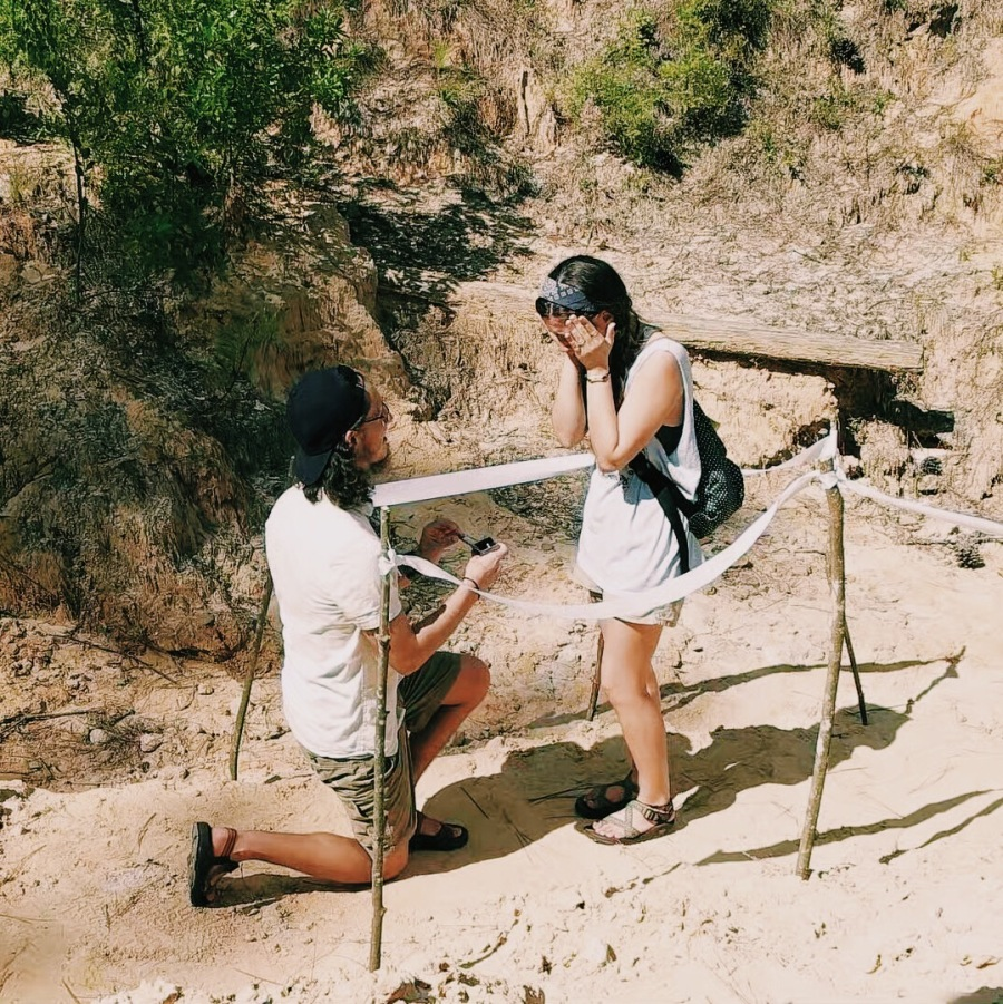 Boone proposes to Madi Smith on July 27, 2015. His surprise proposal took place at the Jellystone area of Blackwater River State park in Milton, Florida. Photo by Caleb Frith. For more photos visit calebfrith.vsco.com