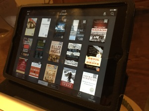 E-books stored in Kindle allow for the accessibility of textbooks without all the weight of the physical book. Photo by Scott St. Lifer