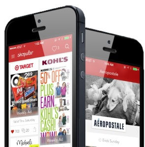 Shopular offers weekly ads and coupons to save users on merchandise. Users redeem coupons on the app. Photo credit to Shopular